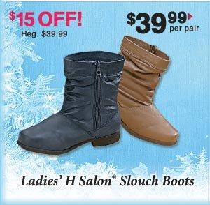 Ladies' H Salon Slouch Boots
