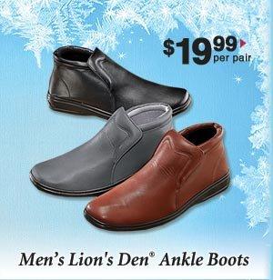 Men's Ankle Boots $19.99 per pair