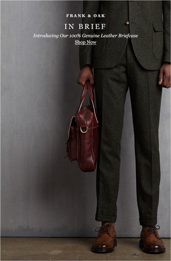 IN BRIEF - Introducing Our 100% Genuine Leather Briefcase - Shop Now