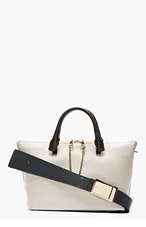 CHLOE Grey & black leather Baylee Small Tote for women