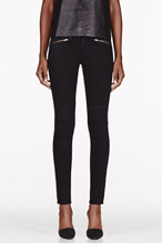 RAG & BONE Black Ridley Biker Jeans for women