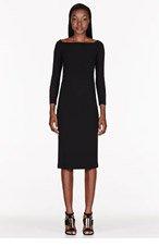 BURBERRY PRORSUM Black Back Bow Cut Out Dress for women