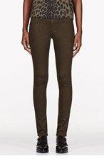 RAG & BONE Olive Sateen Legging Jeans for women
