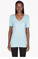 T BY ALEXANDER WANG Pale blue Sky Classic Pocket t-shirt for women