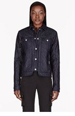 SILENT BY DAMIR DOMA Deep navy quilted Denim Jibero Jacket for women