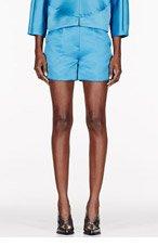 ROKSANDA ILINCIC Teal Sheen Francine Shorts for women