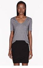 T BY ALEXANDER WANG Heather Grey Classic Pocket t-shirt for women