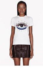 KENZO White Eye print T-shirt for women
