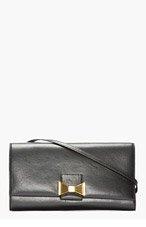 CHLOE Black leather Robbie Clutch for women