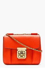 CHLOE Red grained leather small Elsie bag for women
