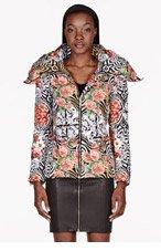 VERSUS Pink multicolor Down Floral Jacket for women