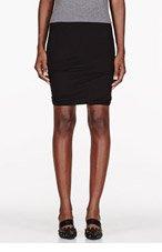 T BY ALEXANDER WANG Black Micro Modal Spandex Twist Skirt for women