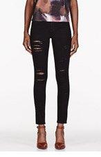 FRAME DENIM Black Wash Le Color Ripped jeans for women