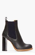 CHLOE Black & Navy Heeled chelsea Boots for women