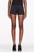 T BY ALEXANDER WANG Black silk Tap Shorts for women