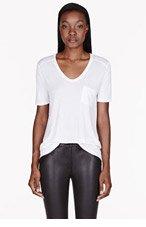 T BY ALEXANDER WANG White Classic Pocket t-shirt for women