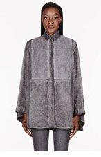 SILENT BY DAMIR DOMA Grey washed Sati Kimono Shirt for women