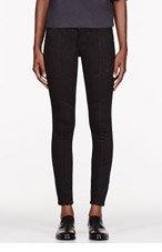 FRAME DENIM Black Vian Wash Le Luxe Biker Jeans for women