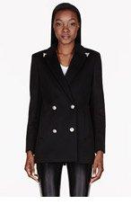 VERSACE Black Crystal Tip Jacket for women