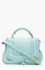 CHLOE Mint green leather Marcie Medium Handbag for women
