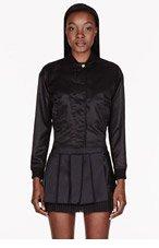 VERSUS Black sheen Baseball Jacket for women