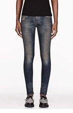 RAG & BONE Blue & brown Lightweight Denim The Skinny jeans for women