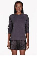 T BY ALEXANDER WANG Charcoal Vintage Fleece Sweatshirt for women