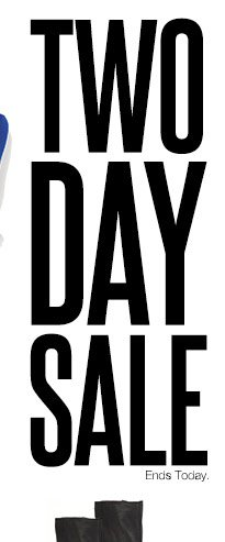 2-Day Sale Ends today.