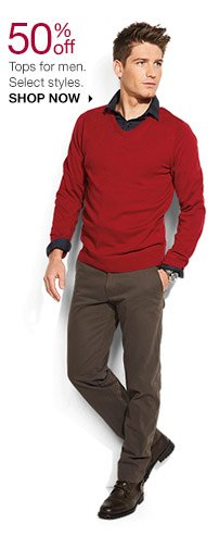 50% off Tops for men. Select styles. SHOP NOW