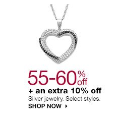 55-60% off + an extra 10% off Silver jewelry. Select styles. SHOP NOW