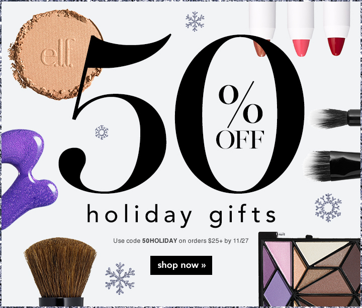 50% off Holiday Gifts - use code: 50Holiday on orders $25+ by 11/27
