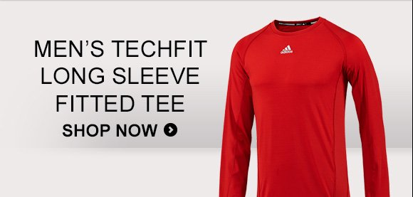 Men's Techfit Long Sleeve Fitted Tee. Shop Now »