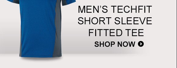 Men's Techfit Short Sleeve Fitted Tee. Shop Now »
