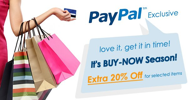 Love it, get it in time! Selected items at extra 20% off!