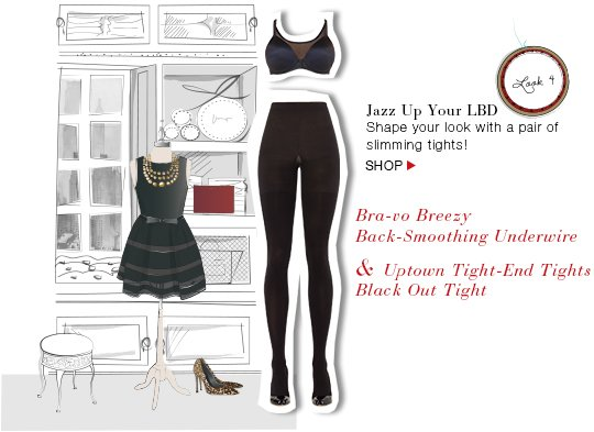 Jazz Up Your LBD! Shape your look with a pair of slimming tights! Shop!