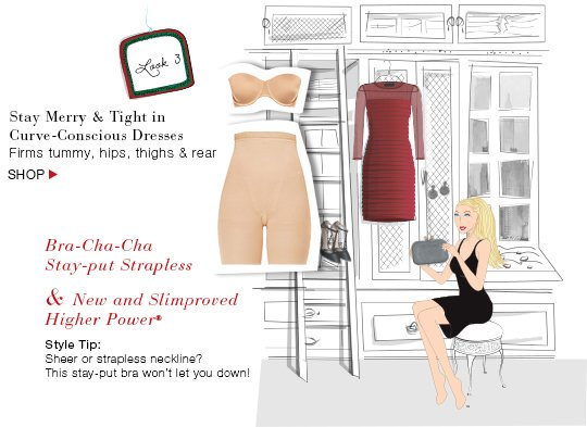 Stay Merry & Tight in Curve-Conscious Dresses! Firms tummy, hips, thighs & rear. Shop!