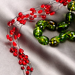 Green & Red Amber Jewelry