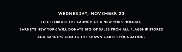 Now available! A New York Holiday, a limited edition collection designed in collaboration with Shawn 'JAY Z' Carter.