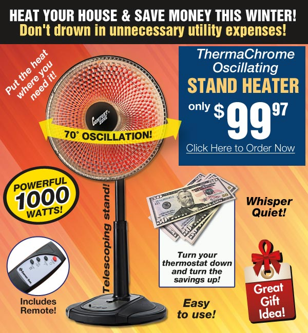 Oscillating Stand Heater