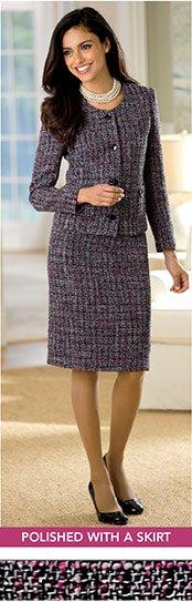 Tweed Jacket & Pencil Skirt