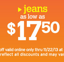 jeans as low as $17.50