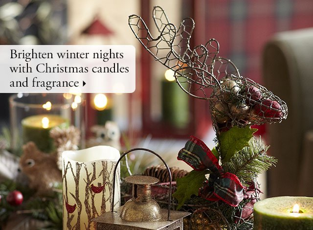Brighten winter nights with Christmas candles and fragrance