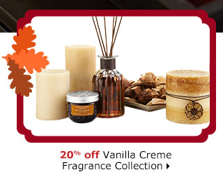 20% off Vanilla Creme Fragrance Collection