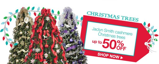 CHRISTMAS TREES | Jaclyn Smith cashmere Christmas trees up to 50% OFF | SHOP NOW