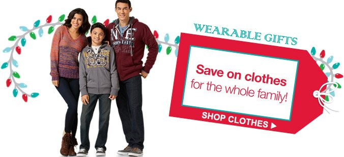 WEARABLE GIFTS | Save on clothes for the whole family! | SHOP CLOTHES