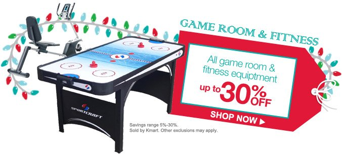 GAME ROOM & FITNESS | All game room & fitness equipment up to 30% OFF | SHOP NOW