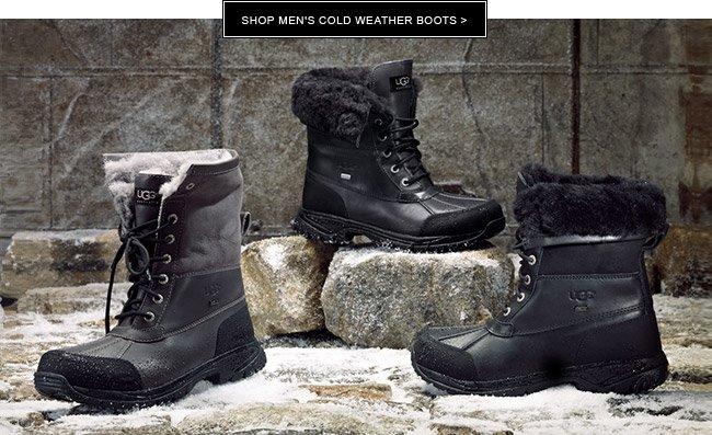 Shop men's cold weather boots >