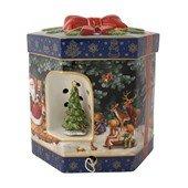 Christmas Toys Gift Box Hexagonal Santa w. Book L