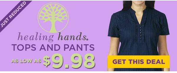 Healing Hands Tops and Pants as low as $9.98 - Get This Deal