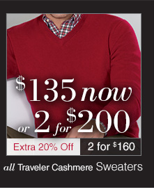 $135 USD now or 2 for $200 USD - Traveler Cashmere Sweaters